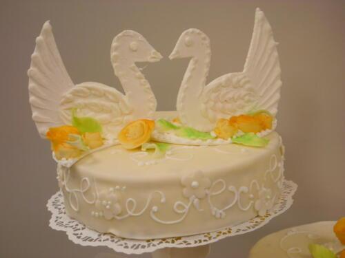 Torte mit Tauben